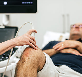 Man having an Ultrasound Scan